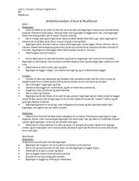 Noter: Arkitekturanalyse af AroS & Musikhuset