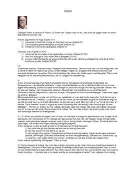 Noter til Kriton