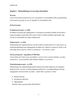 Afsætning Niveau B - Noter til alle kapitler med modeller