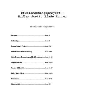 SRP om Blade Runner i Engelsk A og Mediefag B