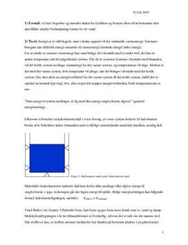 Fordampning af vand | Rapport i Fysik