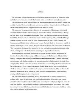 """SRO: Analyse af Søren Ulrik Thomsens """"City slang"""""""