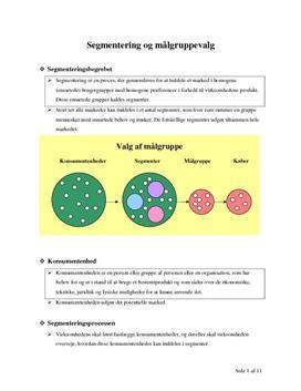 Noter til Segmentering og Målgruppevalg - Afsætning A