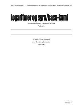 SRO om logaritmer og syre/base-kemi