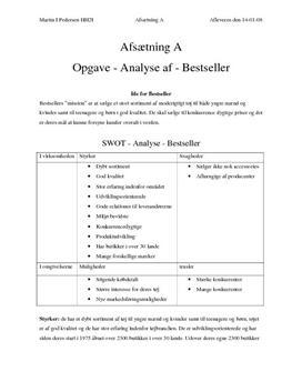 Analyse af Bestseller