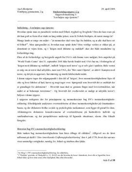SRO om menneskerettigheder og Guantanamo | Samfundsfag A og psykologi B