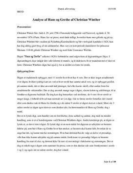 Hans og Grethe og Det Waagepetersenske Familiebillede | Analyse