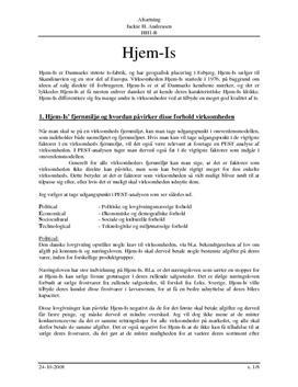 Hjem-Is - PEST Analyse og Værdikæde