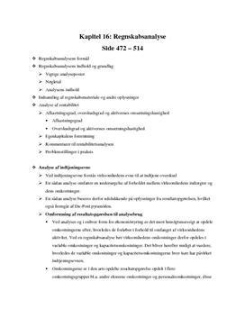 Regnskabsanalyse | Noter