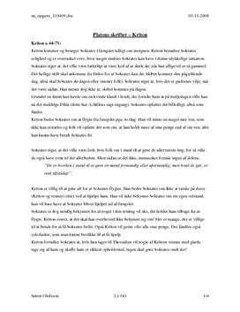 Referat af Platons Kriton