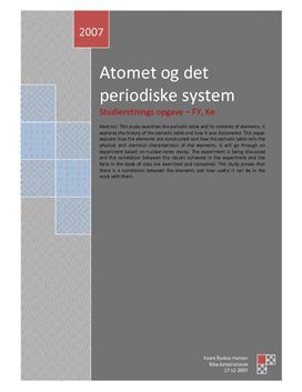 SRO om Atomet og det periodiske system