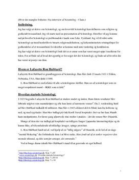 Scientology | Opgave i Religion