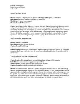 Grundtræningsprogram for Fodbold