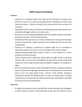 SWOT-analyse af Carlsberg