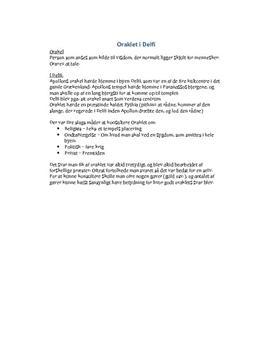 Oraklet i Delfi | Noter