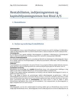 Rentabiliteten, indtjeningsevnen og kapitaltilpasningsevnen