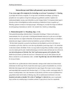 Menneskesynet i kristendommen - Noter i Religion