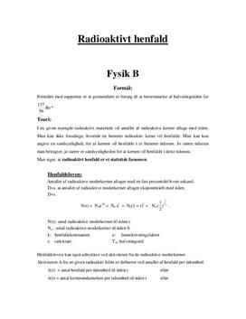 Henfaldsloven - Rapport i Fysik