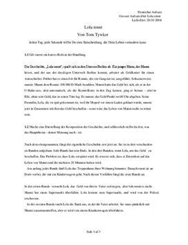 Noter til Lola Rennt i Tysk