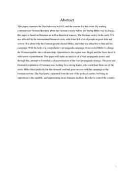 SRP om Nazismen og Dens Udbredelse i Tysk A og Historie A