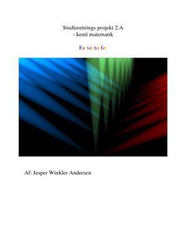 Øvelse: Farvestof i en opløsning   SRO i Matematik og Kemi