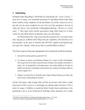 SRP om Racisme i Samfundsfag A og Engelsk A
