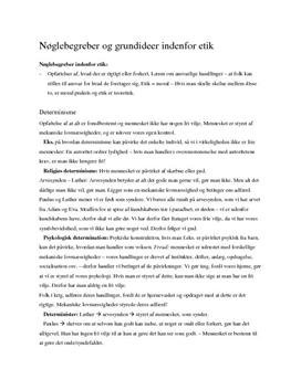 Religion: Determinisme og indeterminisme
