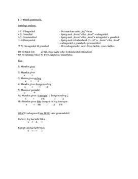 Tysk grammatik - komplette noter