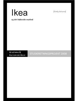 SOP: IKEA og Italien i Kulturforståelse og Afsætning