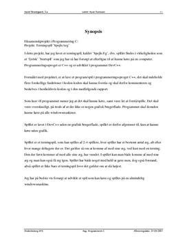 Eksamensprojekt i Programmering C: Spejleæg-spil i C++