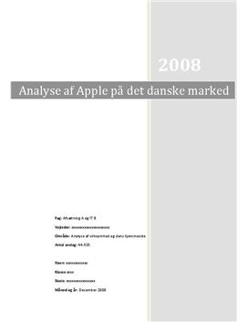SOP om Apple i Afsætning A og IT B