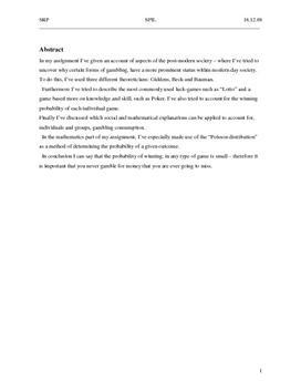 SRP om Spil og Gambling i Samfundsfag A og Matematik A