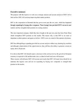 SOP om DSV i Afsætning og Virksomhedsøkonomi A