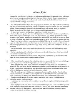 Analyse af Adams Æbler