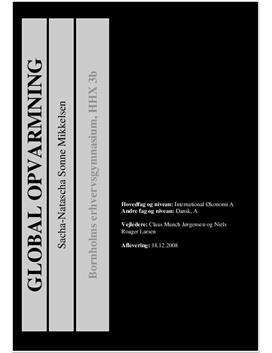 SOP om Global Opvarming i International Økonomi A og Dansk A