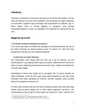 SSO om modstandsbevægelsen og jernbanesabotage