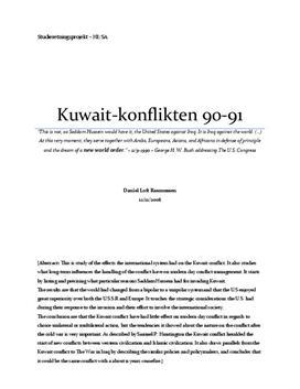 SRP om Kuwait-Konflikten 1990-1991 i Historie og Samfundsfag