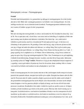 Bip-test og løbetræning | Obligatorisk træningsprojekt 3.g