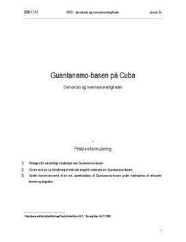 SRO om Guantanamo-basen på Cuba | Samfundsfag A og engelsk A