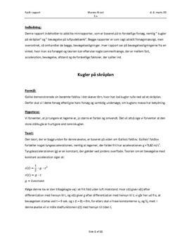fysik rapport