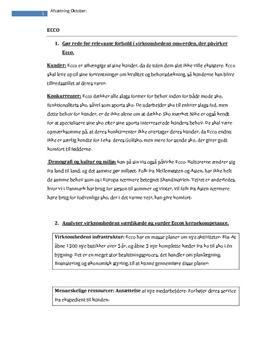 Ecco Analyse (Omverden, Værdikæde, Kernekompetence, Vækststrategi og Konkurrencesituation)