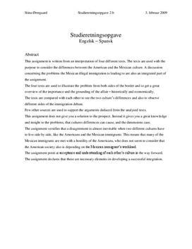 SRO i Engelsk og Spansk - Hispanics