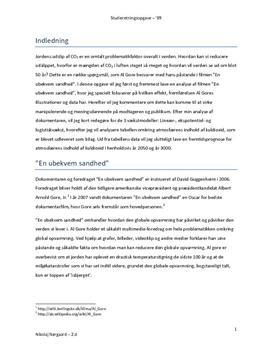 """SRO om CO2 og Al Gores """"En ubekvem sandhed"""""""