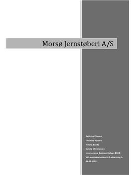 Synopsis om Morsø Jernstøberi   Erhvervscase