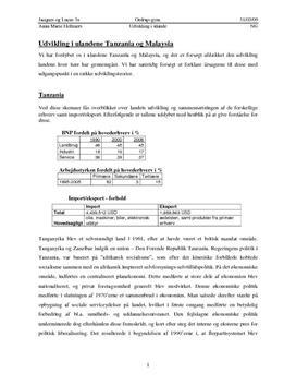 Udvikling i Tanzania og Malaysia - Udviklingsteorier