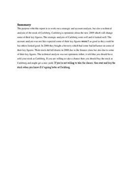 SOP om Carlsberg med virksomhedsanalyse | Virksomhedsøkonomi A og Matematik A