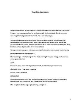Muskeltræning og styrketræning   Grundtræningsprogram & cirkeltræningsprogram