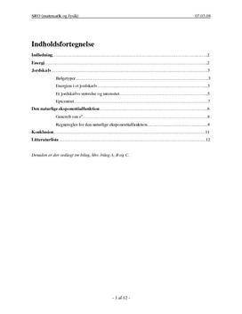 SRO om jordskælv og naturlig eksponentialfunktion