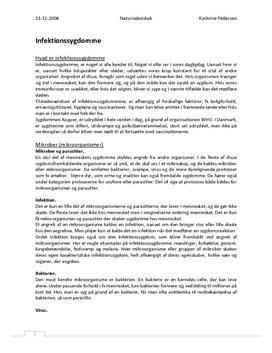Infektionssygdomme - Rapport i Biologi
