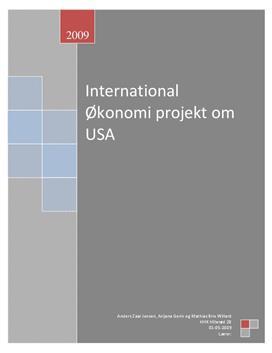 USA's rolle i verdenshandlen - International Økonomi B